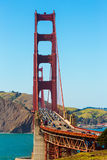 Golden Gate Bridge traffic in San Francisco California Stock Photos