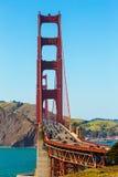 Golden Gate Bridge traffic in San Francisco California Stock Photos