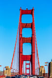 Golden Gate Bridge traffic in San Francisco California Stock Photo