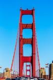 Golden Gate Bridge traffic in San Francisco California. USA Stock Photo