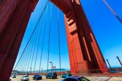 Golden Gate Bridge traffic in San Francisco California Stock Photo