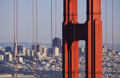 Golden Gate Bridge and Transamerica Building Photo Royalty Free Stock Photos