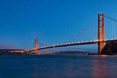 Golden Gate Bridge at Twilight from Fort Baker Royalty Free Stock Photography