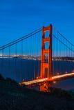 Golden Gate Bridge Twilight,San Francisco Stock Photo