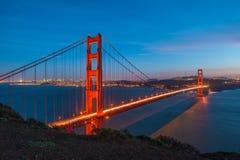 Golden Gate Bridge Twilight,San Francisco Stock Photography