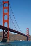 Golden gate bridge und Fähre Lizenzfreie Stockbilder