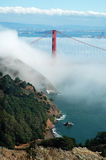 Golden Gate Bridge under fog Stock Photo