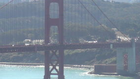 Golden gate bridge under strong midday sun Royalty Free Stock Images