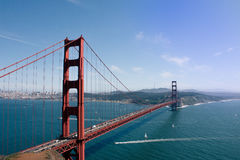 Golden Gate Bridge Under Sunny Skies Stock Photography