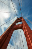 Golden Gate Bridge up to the sky, San Francisco, vertical. Stock Photography