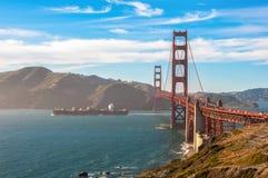 Golden gate bridge van Baker Beach, San Francisco, Californië de V.S. stock fotografie