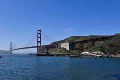 Golden gate bridge van Fort Baker stock foto