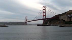 Golden gate bridge van Marin Overcast Late Afternoon stock footage