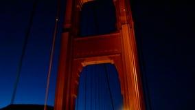 Golden gate bridge-verkeer, de reisdiversiteit van de V.S., stock videobeelden
