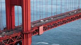 Golden gate bridge-verkeersfilm stock footage
