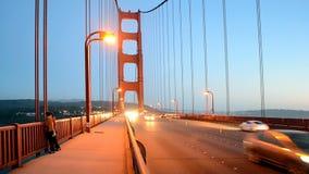 Golden gate bridge-Verkehr, USA-Reiseverschiedenartigkeit, stock video