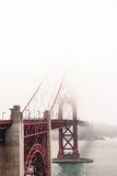 Golden Gate Bridge. A very foggy morning at the Golden Gate Bridge, San Francisco royalty free stock photography