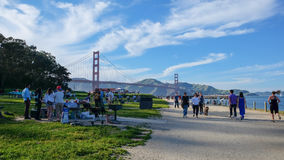 Golden Gate Bridge View from San Francisco Picnic area . stock photography