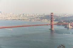 Golden Gate Bridge view at sunset time, San Francisco. Golden Gate Bridge view at sunset time in San Francisco Stock Photos