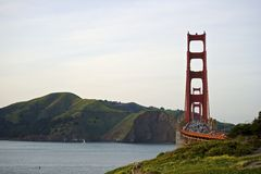 Golden Gate bridge with view to Marin County Royalty Free Stock Photos
