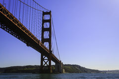Golden Gate Bridge viewed from city side looking over to the  headlands Royalty Free Stock Image
