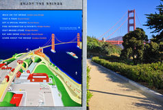 Golden Gate Bridge and Visitor Map Royalty Free Stock Photography