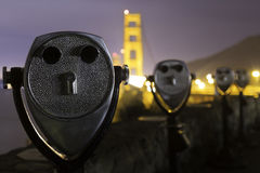 Golden Gate Bridge Vista Point Stock Photography
