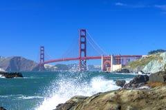 Golden gate bridge, Vista-Punkt stockfotografie