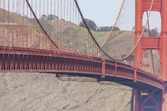 Golden gate bridge vivid day landscape, San Francisco Stock Image