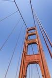 Golden gate bridge vivid day landscape, San Francisco.  Stock Images