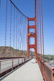 Golden gate bridge vivid day landscape, San Francisco Royalty Free Stock Photography