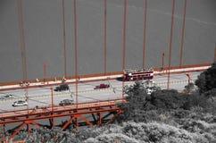 Golden gate bridge w czarny czerwony i białym, San Fransisco, Kalifornia, usa Obrazy Stock