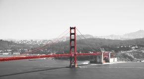 Golden gate bridge w czarny czerwony i białym, San Fransisco, Kalifornia, usa Obraz Stock