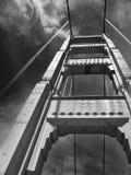Golden Gate Bridge w Czarny I Biały Fotografia Stock