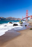 The Golden Gate Bridge w the waves Stock Images