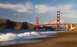 The Golden Gate Bridge w the waves Stock Image
