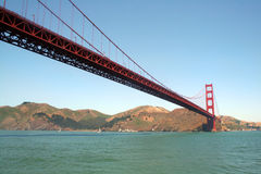 Golden Gate Bridge From The Water Stock Photo