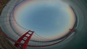 Golden Gate Bridge Wide Angle stock video