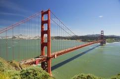 Golden gate bridge, widok od Morskich Headlands, San Fransisco, Kalifornia, usa Zdjęcie Stock
