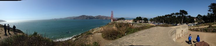 Golden gate bridge & x22; bak scenes&en x22; Royaltyfri Foto