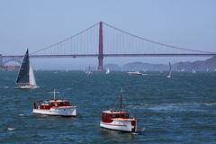Golden gate bridge | Yacht classici Fotografie Stock