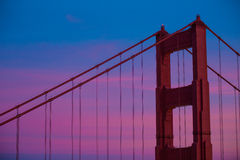 Golden Gate Bridge zamknięcie Styczeń 2015 Zdjęcia Stock