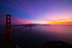 Golden Gate Bridge zamknięcie Styczeń 2015 Obrazy Stock
