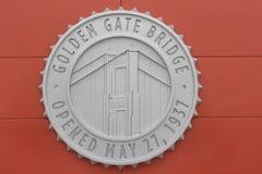 Golden gate bridge-Zeichen Lizenzfreies Stockfoto