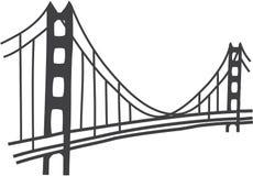 Golden gate bridge-Zeichnung Stockfoto