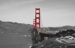 Golden gate bridge in zwarte wit en rood, San Francisco, Californië, de V.S. Stock Afbeeldingen