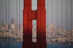 Golden Gate Bridgein mgła, San Fransisco, Kalifornia, usa Obrazy Stock