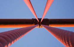 Golden Gate Cable Abstract Royalty Free Stock Images