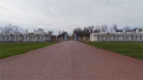 Golden Gate of the Catherine Palace  in St. Petersburg. Golden Gate of the Catherine Palace. St. Petersburg. Pushkin. Tsarskoye Selo stock video footage