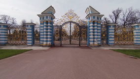 Golden Gate of the Catherine Palace  in St. Petersburg. Golden Gate of the Catherine Palace. St. Petersburg. Pushkin. Tsarskoye Selo stock footage
